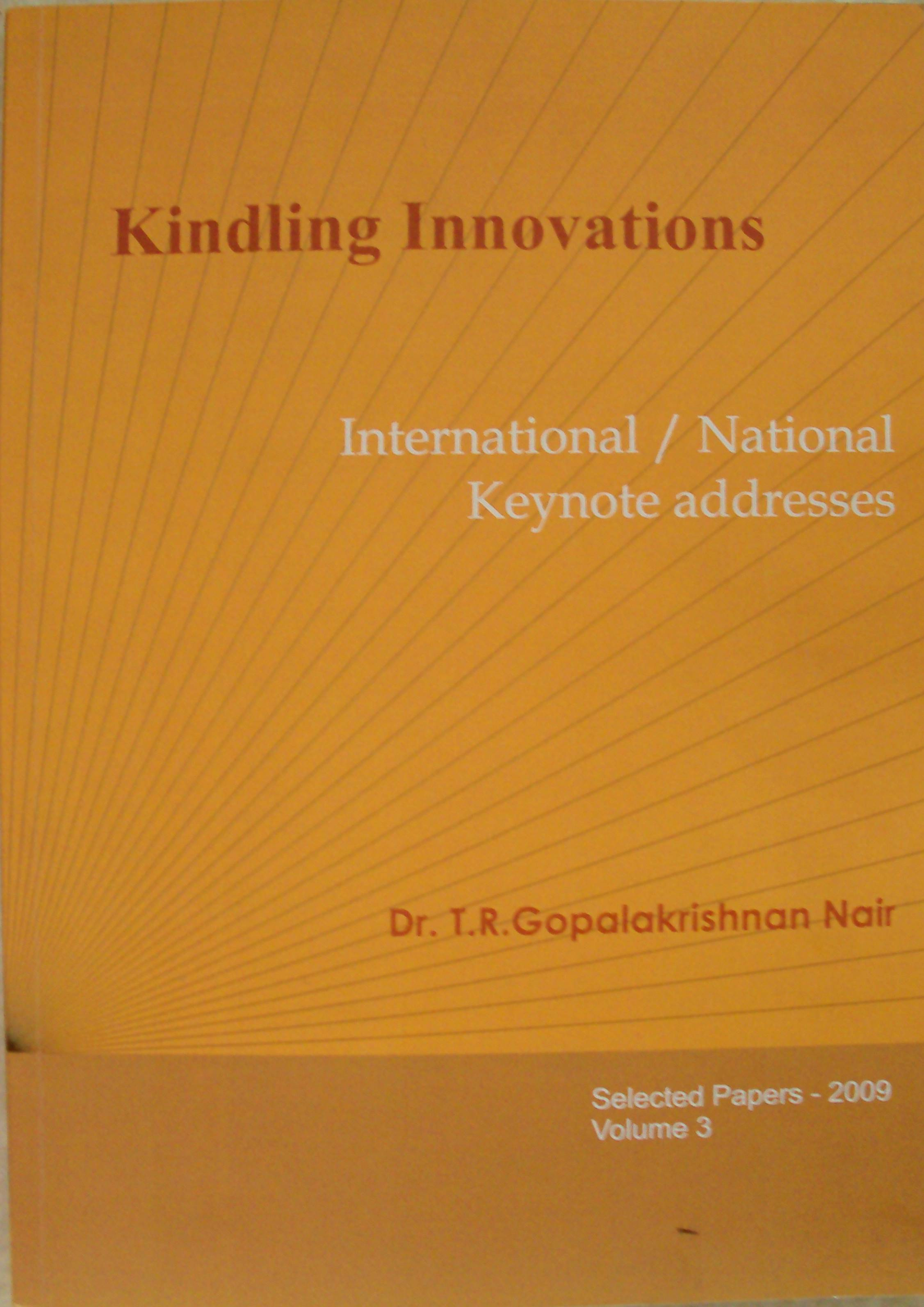 Keynotes, Kindling Innovations Vol.1