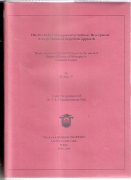 Thesis of  Suma V